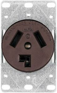 Eaton38B 30-Amp Commercial and Industrial Dryer Power Receptacle with Box, Brown