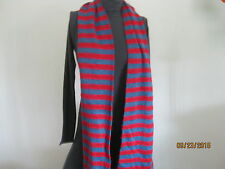 american apparel acrylic mohair scarf bright blue /red  stripes