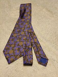 Men's Tie 2% silk 98% Polyester polka dot by Perry Ellis Portfolio purple grey