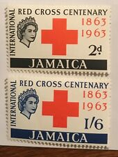 Jamaica  postage stamps lot of 2 Red Cross Centenary MLH.          Ap