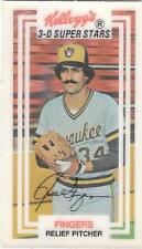 ROLLIE FINGERS 1983 Kelloggs card #2 Milwaukee Brewers NR MT