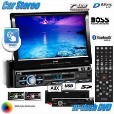"NEW BOSS 7"" Touchscreen In-Dash DVD/USB Car Stereo Radio w/Bluetooth/Multi-color"