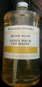 Williams Sonoma Hand Soap MEYER LEMON 16 oz Essential Oils FRESH