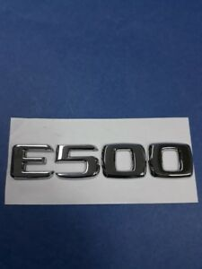 CHROME * E500 * TRUNK LETTERS EMBLEM BADGE SET FOR MERCEDES BENZ E-CLASS AMG