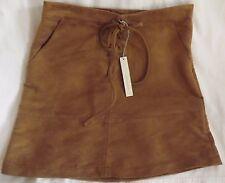 Misses Short Skirt Size 8 Lace-Up Natural Faux Suede Side Zip Lauren Conrad LC