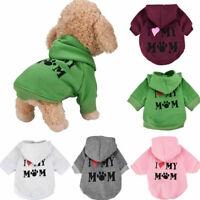 Pet Dog Hoodie Shirt Clothes Puppy Casual Coat Winter Sweatshirt Coat Costume US