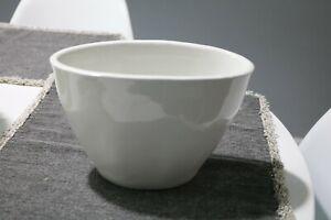 Antique White Ironstone Ceramic Pudding Mold Oval Design - Heavy Big