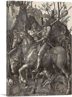 ARTCANVAS Knight, Death and the Devil Canvas Art Print by Albrecht Durer