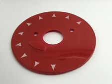 GPO 706 LACQUER RED CHEVRON TELEPHONE DIAL BACKING PLATE