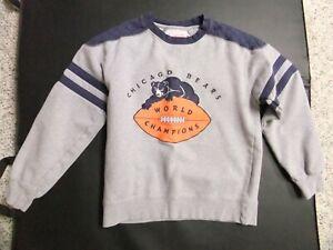 L#969 Mitchell & Ness grey Chicago Bears vintage throwback sweatshirt, EX-MT