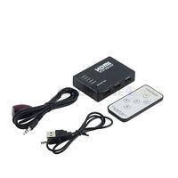 5 Port HDMI Switch Splitter + Remote For 1080P HDTV DVD Blu-Ray Xbox 360 PS3