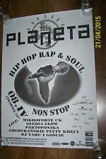 KLUB PLANETA - HIPHOP NONSTOP - POSTER (mikroforte ck, głębia głów, paktofonika)
