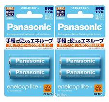 4 Panasonic Eneloop Lite 950mAh AA Batteries 5000 Times Rechargeable Batteries