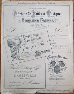 Printer/Lithographer's Archive Group 1890s Labels/Letterheads - Epernay, France
