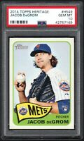 2014 Topps Heritage #H549 JACOB DeGROM New York Mets PSA 10 GEM MINT