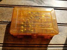 Vintage Plano 3213 mini-magnum Pocket Pak Orange Tackle Box Small Double Sided