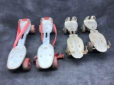 Lots de deux paires de patin à roulettes ancien. Roller quad jeu jouet ancien