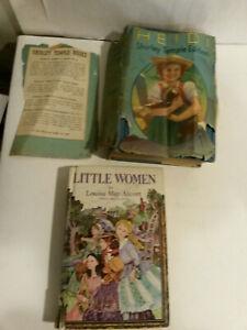 Shirley Temple edition Saalfield 1937 Heidi 1970 Little Women Whitman books lot