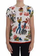 NWT $680 DOLCE & GABBANA T-shirt Top Torero Blouse Cap Sleeve s. IT38 / US4 / XS