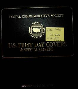 Postal Commemorative Society US First Day Covers - 121 Sheets in Binder 1992-94