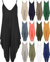 Ladies Womens Lagenlook Cami Strappy Baggy Harem Jumpsuit Playsuit Dress top8 14