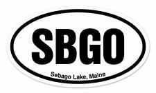 "SBGO Sebago Lake Maine Oval car window bumper sticker decal 5"" x 3"""