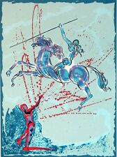 "Salvador Dali ""Joan of Arc""The Spearthrower Hand Signed Art Work Make an Offer!"
