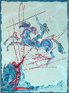 "Salvador Dali ""Joan of Arc""The Spearthrower Hand Signed Art Work Make an Offer!"