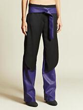 PEDRO LOURENCO $5046 purple leather AW12 runway pants Lourenço trousers 34/2 NEW
