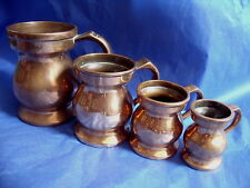 SET OF 4 VICTORIAN BELL METAL BRONZE MEASURES