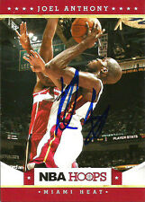 2012 Panini NBA Hoops Joel Anthony MIAMI HEAT Signed Auto Trading Card #2
