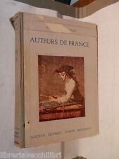 AUTEURS DE FRANCE Margherita Tesio Societa Editrice Dante Alighieri 1957 libro