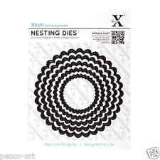 X cut 5 pc scalloped circle nesting diesUse Xcut, sizzix, big shot machines