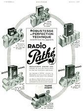 Publicité ancienne radio Pathé 1934