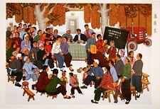 Original Vintage Poster Chinese Cultural Revolution Electing a Team Leader 1974