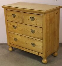 Antique Provincial country  chest of drawers  baltic pine Georgian brass handles