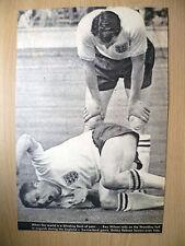 Premere il taglio-Sir Bobby Robson ORIGINALE Mano segno stampa taglio, FULLHAM FC