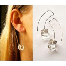 Ohrringe, Hängeohrringe, BERGKRISTALLE Würfel, earrings, Silber 925 NEU