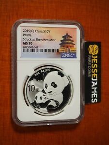 2019 (G) CHINA SILVER PANDA NGC MS70 STRUCK AT SHENZHEN MINT 30G .999 SILVER