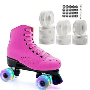 8 Pieces LED Light up Roller Skate Wheels, Luminous Skates Wheels with Roller