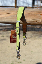 """Alamo Saddlery 1 1/4"""" Suede Wither Strap / Breast Collar Tie-Up Strap - Lime"""