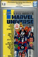 Official Handbook of the Marvel Universe Master Edition 34 CGC 9.8 SS Stan Lee