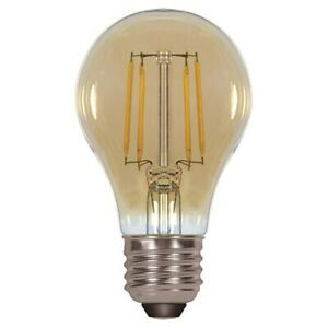 Satco Antique LED Filament 4.5w A19 2000k Dimmable E26 Amber Vintage S9583 bulb