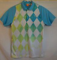 Vintage Men's PUMA Dry Cell polo golf shirt Diamond EUC sport lifestyle s/s