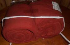 $99 The Company Store Style E5V9 Cinnabar Micro Fleece Full Size Sheet Set Warm