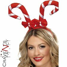 Adult Candy Cane Headband Christmas Fancy Dress Costume Accessory Boppers