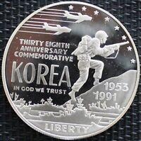 USA ONE DOLLAR LA GUERRE DE CORÉE 1991 ARGENT