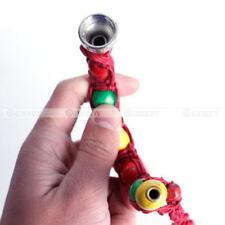 Portable Metal Bracelet Smoke Smoking Tobacco Pipe Jamaica Rasta Knitting Rope