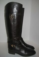 TORY BURCH ELOISE TALL BROWN LEATHER RIDING BOOTS SIZE 7