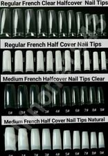 100/500pc Artificial False French Nail Tips Medium French/Regular French CHOOSE